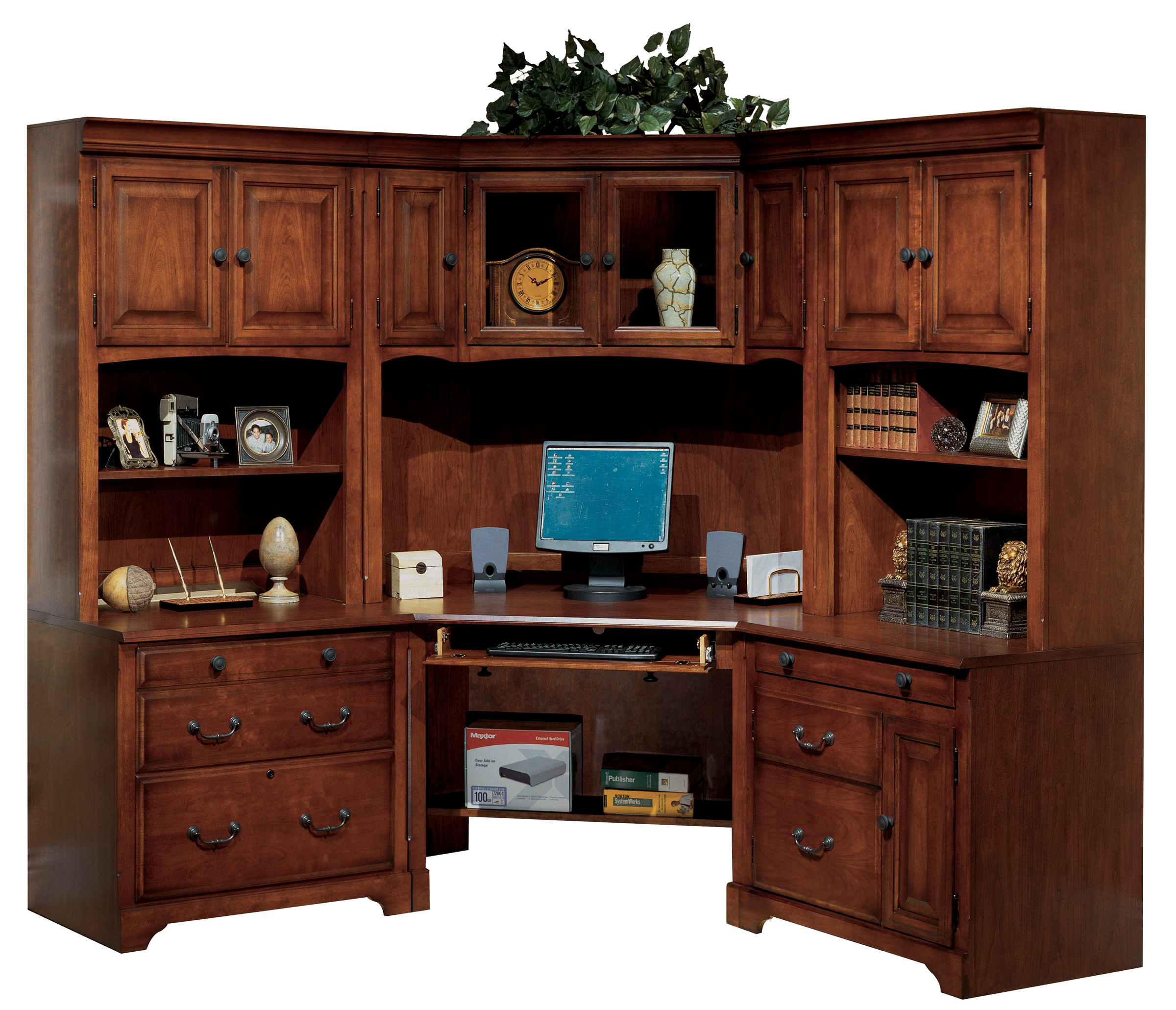 Corner Desk. Country Cherry Modular Corner Desk By Winners Only Furniture