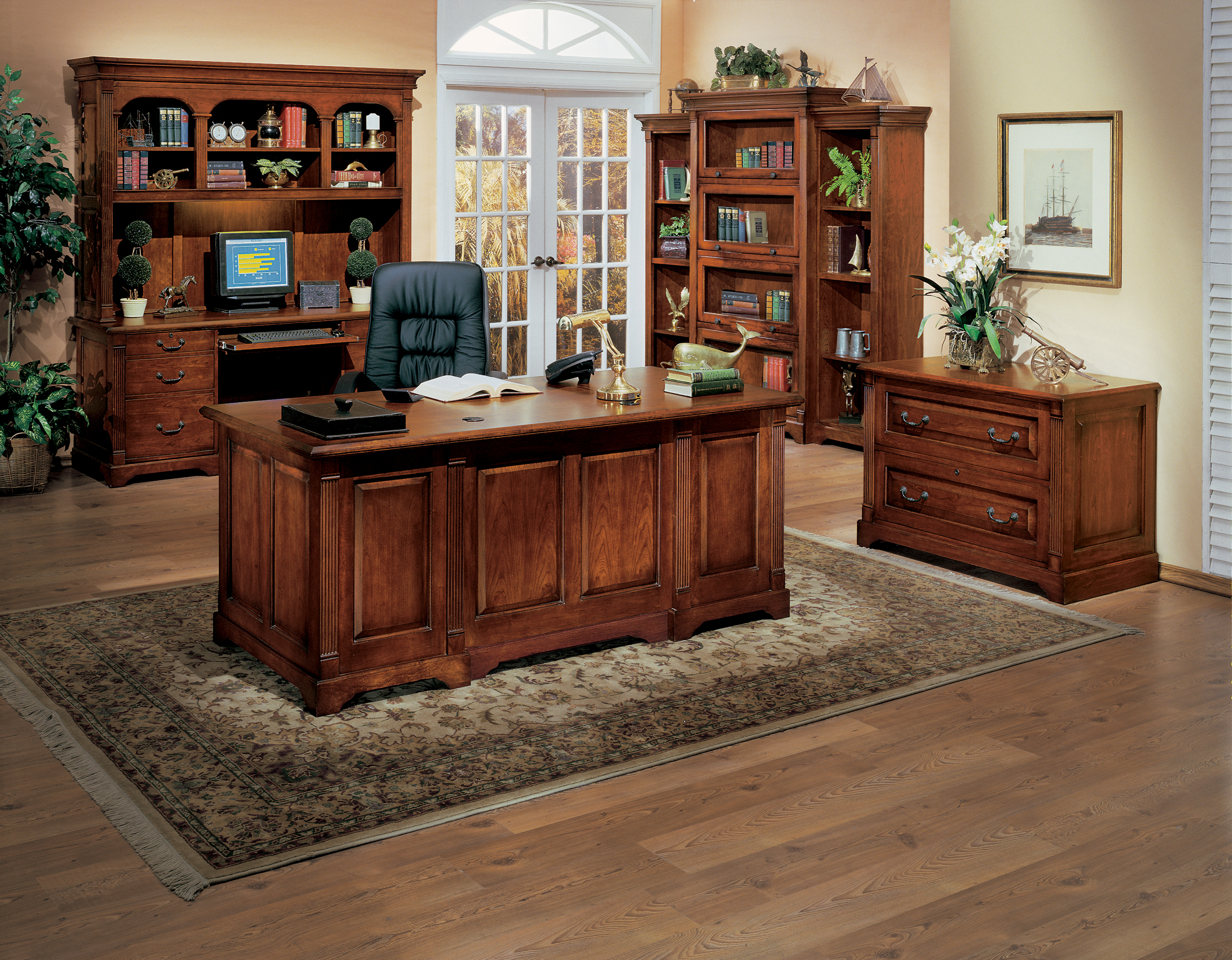 Great Home Office Set. Country Cherry Home Office Collection By Winners Only