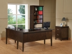 Koncept L Shaped Desk in Chocolate Finish